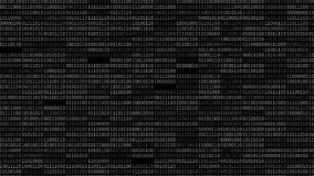 Tela do código binário filme
