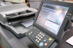 Tela do equipamento impresso Fotografia de Stock