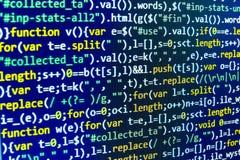 Tela do espaço de trabalho do programador de software Imagem de Stock Royalty Free