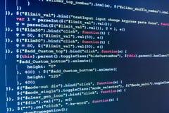 Tela do espaço de trabalho do programador de software Foto de Stock