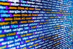 Tela do espaço de trabalho do programador de software Imagem de Stock