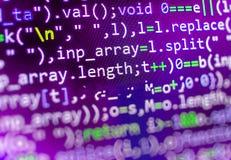 Tela do espaço de trabalho do programador de software Imagens de Stock