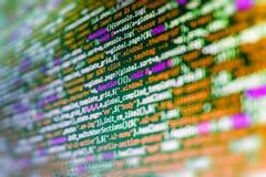 Tela do espaço de trabalho do programador de software Fotografia de Stock