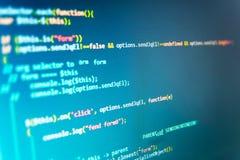 Tela do espaço de trabalho do programador de software Imagens de Stock Royalty Free
