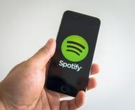 Tela do fazer logon de Spotify Fotografia de Stock Royalty Free