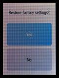A tela do jogador audio com a mensagem sobre o sistema fotos de stock royalty free