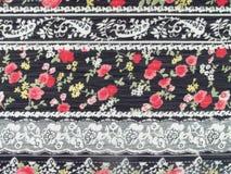 Tela do laço das flores Imagens de Stock