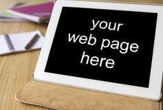 Tela do preto da tabuleta do PC para seu Web site Foto de Stock Royalty Free