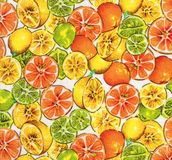 Tela do teste padrão das frutas imagem de stock