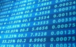 Tela dos dados do mercado de valores de ação Ilustração Stock