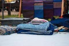 Tela dos sarongues Imagens de Stock