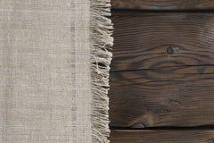 Tela e bordi di legno fotografia stock