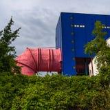 Tela en el río de la diversión en Berlín imágenes de archivo libres de regalías