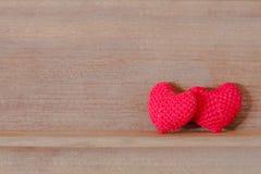 Tela en forma de corazón Imagen de archivo libre de regalías