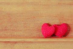 Tela en forma de corazón Foto de archivo libre de regalías