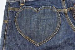 Tela en forma de corazón para el fondo Imágenes de archivo libres de regalías