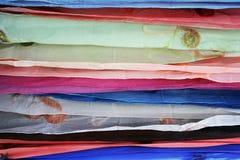 Tela escarpada en capas Imagen de archivo