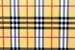 Tela escocesa amarilla Imágenes de archivo libres de regalías