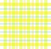 Tela escocesa amarilla de la guinga Fotos de archivo libres de regalías