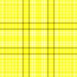 Tela escocesa amarilla y negra Ilustración del Vector
