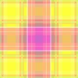 Tela escocesa amarilla y rosada Stock de ilustración