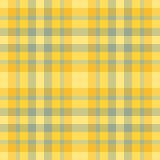 Tela escocesa amarilla y verde Imagen de archivo libre de regalías