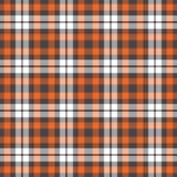 Tela escocesa anaranjada, gris, y blanca Imagen de archivo libre de regalías