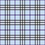 Tela escocesa azul Fotografía de archivo