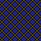 Tela escocesa azul Imagen de archivo libre de regalías