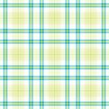 Tela escocesa azul amarilla Fotografía de archivo