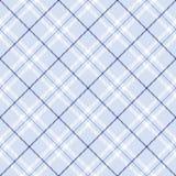 Tela escocesa azul clara stock de ilustración