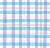 Tela escocesa azul de la guinga Fotografía de archivo libre de regalías
