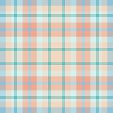 Tela escocesa azul rosada Fotos de archivo libres de regalías