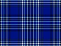 Tela escocesa azul y negra Libre Illustration