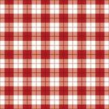Tela escocesa Background_Red-White Fotos de archivo