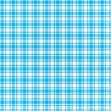 Tela escocesa blanca y azul Foto de archivo