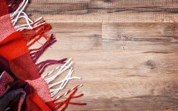 Tela escocesa a cuadros roja Fotografía de archivo libre de regalías
