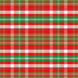 Tela escocesa de la Navidad Foto de archivo libre de regalías