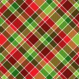 Tela escocesa de la Navidad Imagen de archivo libre de regalías