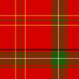 Tela escocesa de la Navidad del vector Fotos de archivo
