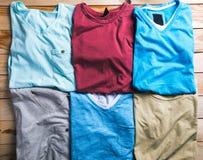 Tela escocesa de las camisas en plan imagen de archivo