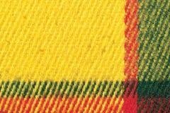 Tela escocesa de las lanas Fotografía de archivo