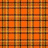Tela escocesa de tartán de Halloween Jaula del escocés del modelo ilustración del vector