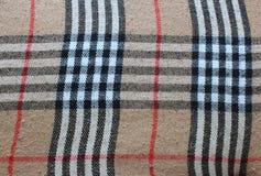 Tela escocesa de tartán tradicional Fotografía de archivo libre de regalías