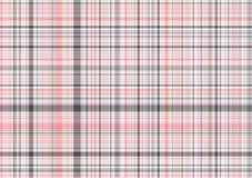 Tela escocesa del color de rosa en colores pastel y del gris Imagen de archivo