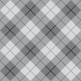 Tela escocesa diagonal en gris Fotos de archivo