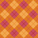 Tela escocesa diagonal en naranja y color de rosa Fotografía de archivo libre de regalías
