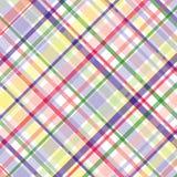 Tela escocesa en colores pastel Fotos de archivo libres de regalías