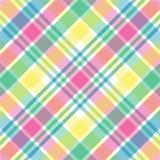 Tela escocesa en colores pastel Fotos de archivo