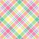 Tela escocesa en colores pastel Fotografía de archivo